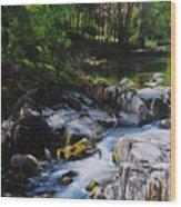 River In Wales Wood Print
