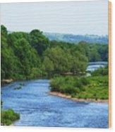 River Wye From Hay-on-wye Bridge Wood Print