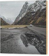 Road Of Norway Wood Print