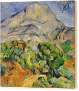 Road To The Montagne Sainte-victoire Wood Print