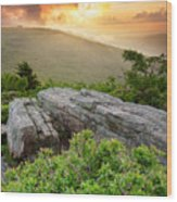 Roan Highlands - Flames And Flares  Wood Print