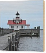 Roanoke Marshes Lighthouse Wood Print