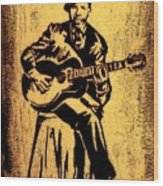 Robert Johnson Wood Print by Jeff DOttavio