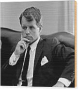 Robert Kennedy  Wood Print by War Is Hell Store