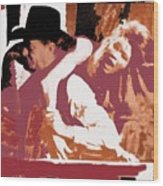 Robert Mitchum Hauls Angie Dickinson Collage Young Billy Young Old Tucson Arizona 1968-2013 Wood Print