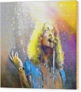 Robert Plant 02 Wood Print