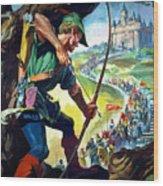 Robin Hood Wood Print