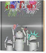 Robo-x9 Celebrates Freedom Wood Print