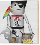 Robo-x9 The Pirate Wood Print