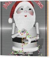 Robo-x9 Wishes A Merry Christmas Wood Print