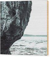 Rock-face Wood Print