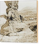 Rock Formation, Garden Of The Gods, 1915, Vintage Photograph Wood Print