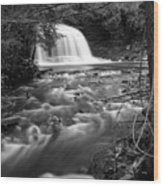 Rock River Falls Wood Print