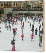 Rockefeller Center Skating Rink New York City Wood Print