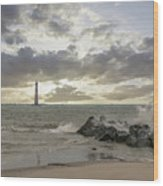 Rocking The Atlantic Wood Print
