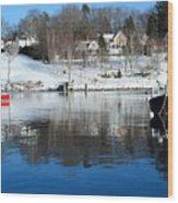 Rockport Winter Wood Print