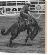 Rodeo Saddleback Riding 5 Wood Print