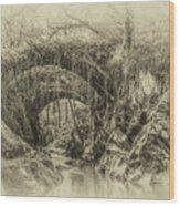 Roman Bridge , Penmachno  Wood Print