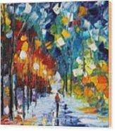 Romantic Winter Wood Print