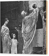 Rome: Christian Widow Wood Print by Granger