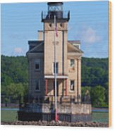 Rondout Lighthouse On The Hudson River New York Wood Print