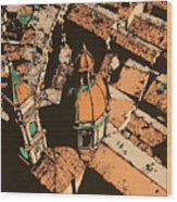 Roofs Of Bologna Wood Print