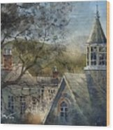 Rooftops Of Old Edwards Wood Print