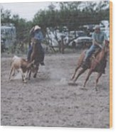Roping Event 6 Wood Print