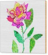 Rose, Watercolor Painting Wood Print