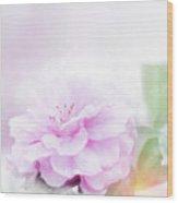 Rose Watercolor Wood Print