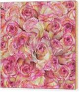 Roses Background Wood Print