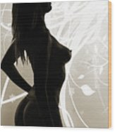 Rosie Nude Fine Art Print In Sensual Sexy 4647.01 Wood Print