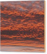 Rosy Sky Wood Print by Michal Boubin