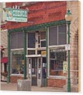 Route 66 - Chenoa Pharmacy Wood Print