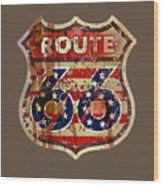 Route 66 T-shirt Wood Print