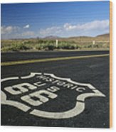 Route 66 Wood Print