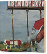 Route 66 - Mule Trading Post Wood Print