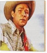 Roy Rogers, Vintage Western Legend Wood Print