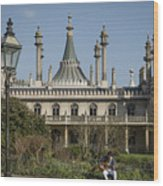 Royal Pavilion And Gardens In Brighton Wood Print