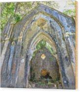 Ruins Of Chapel Sintra Wood Print