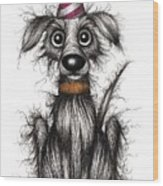 Rupert The Dog Wood Print