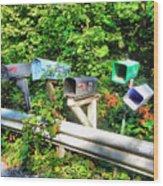 Rural Mailboxes  Wood Print