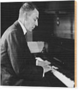 Russian Composer And Pianist Sergei Wood Print by Everett