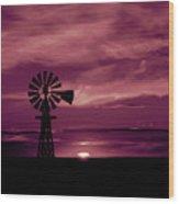 Rustic Sunset - Colorado Wood Print