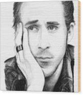Ryan Gosling Wood Print