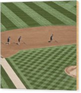 Safeco Field Abstract Patterns With Ground Crew Wood Print