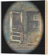Sagging Door Lordsburg New Mexico 1968-2012 Wood Print