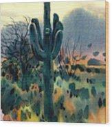 Saguaro Wood Print