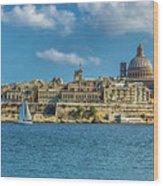 Sail Boat And Cathedral Wood Print
