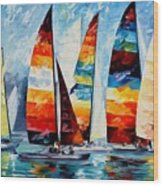 Sail Regatta Wood Print